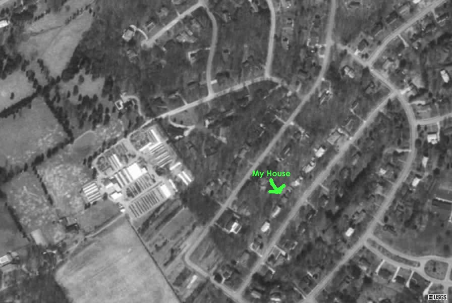 Picture from satellite of my house